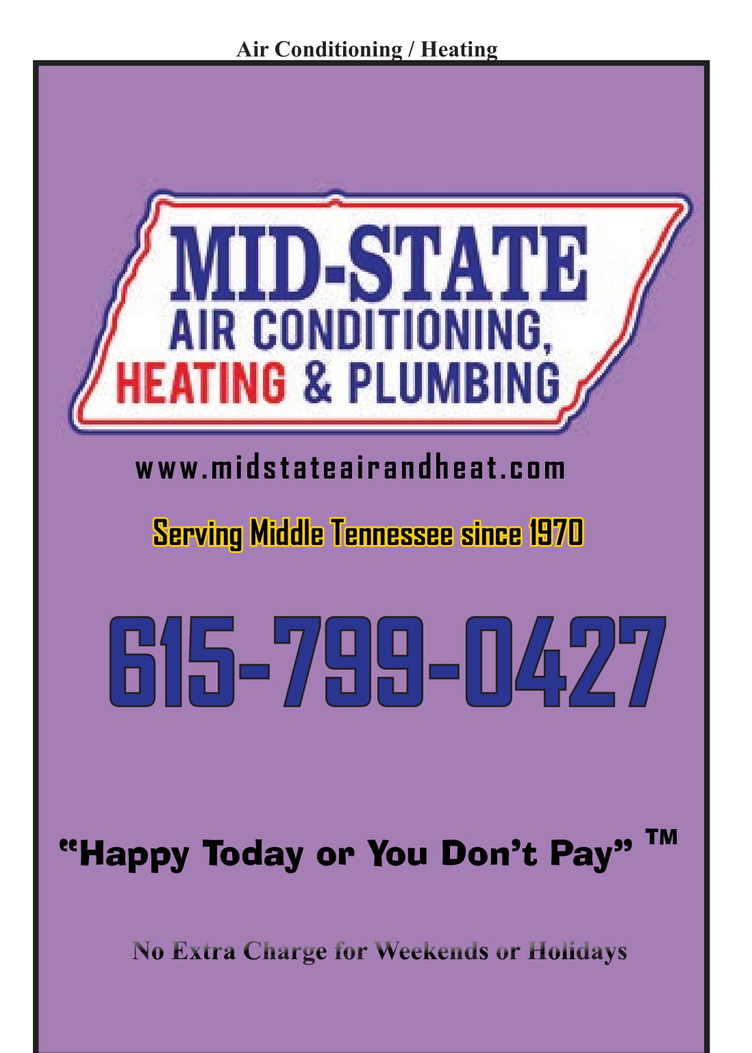 Mid-State Air Conditioning and Heating