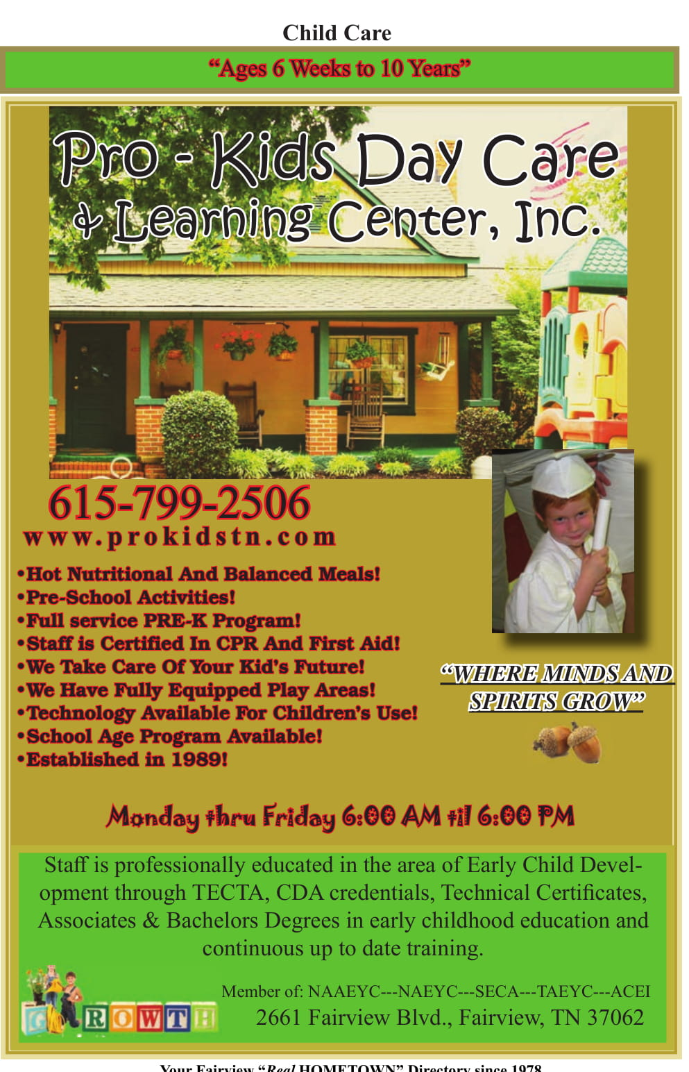 Pro-Kids Day Care & Learning Center, Inc.