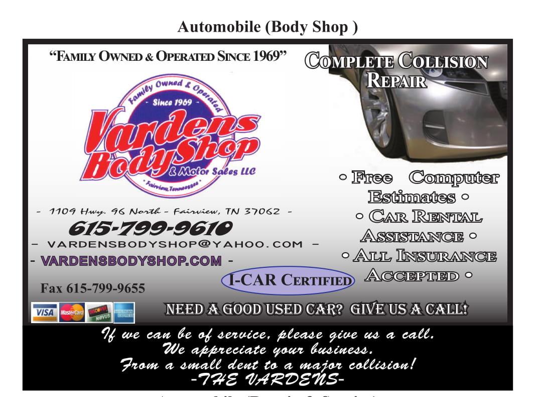 Vardens Body Shop