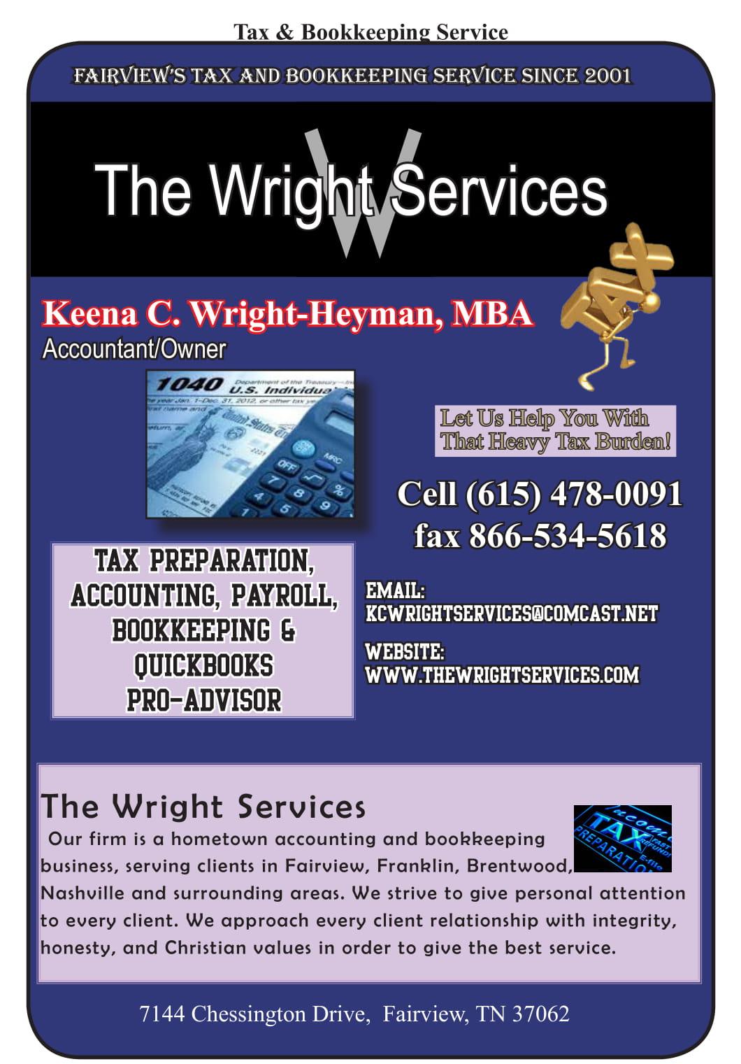 The Wright Services – Keena C Wright-Heyman, MBA