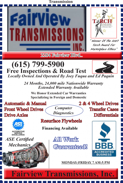Fairview Transmissions, Inc