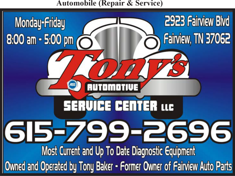 Tony's Automotive Service Center LLC
